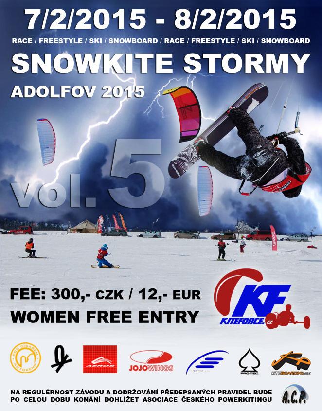 kite zavody snowkite stormy adolfov vol 5 2015 kite spot teskovani vybaveni testday