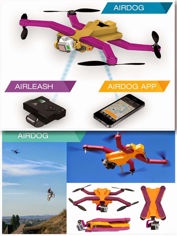 AirDog pro minikamery GoPro i AEE MagiCam