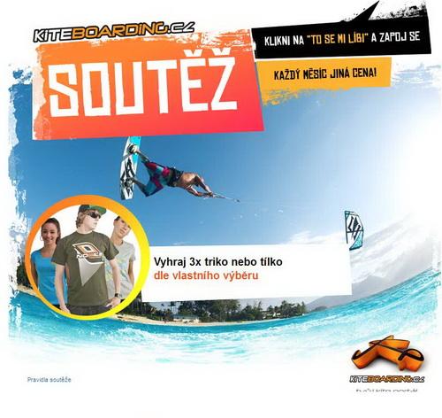 soutěž o 3x snowkite tričko Flysurfer, Nobile, Naish nebo KITEBOARDING.CZ