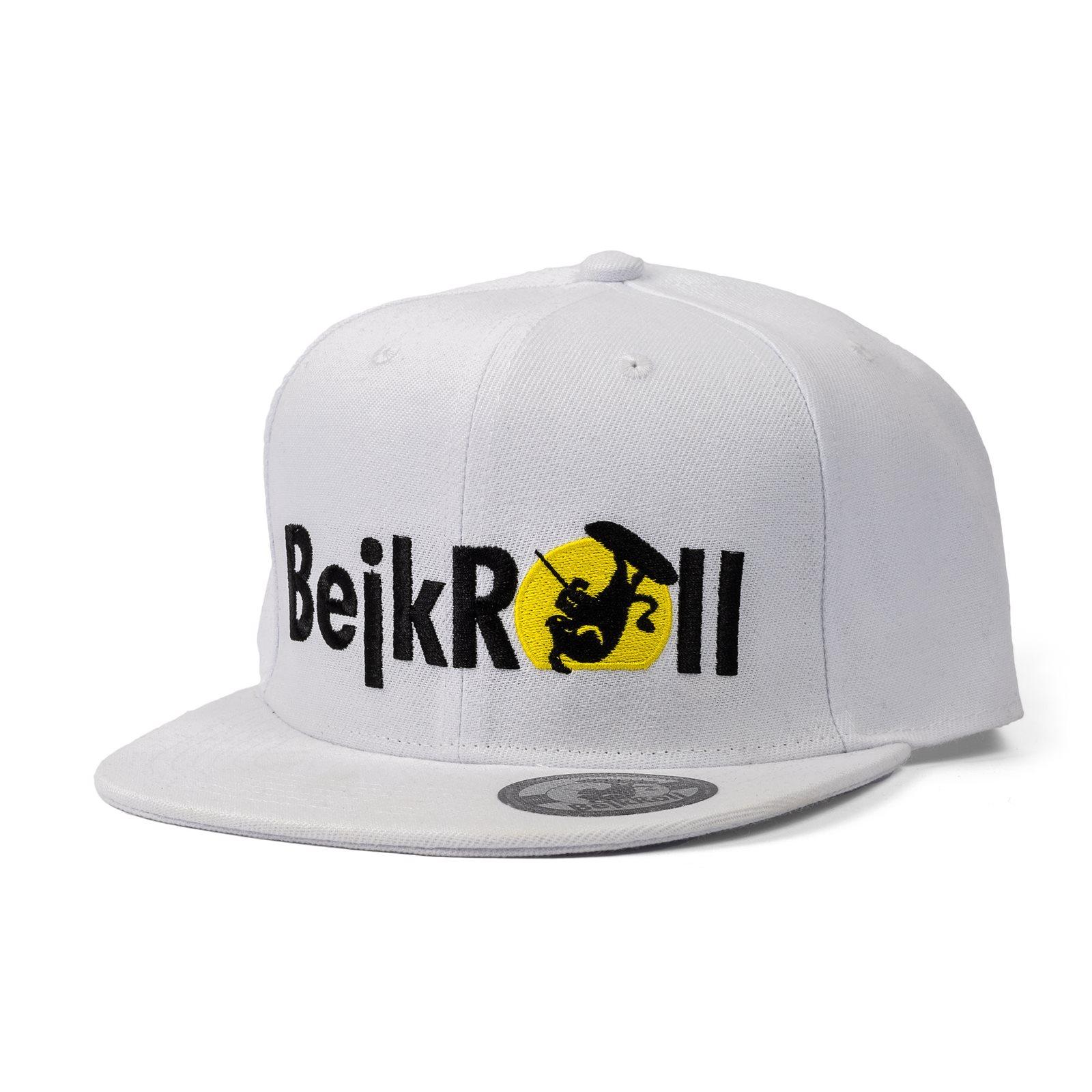 Kšiltovka BejkRoll SnapBack Yupoong rovné logo - White
