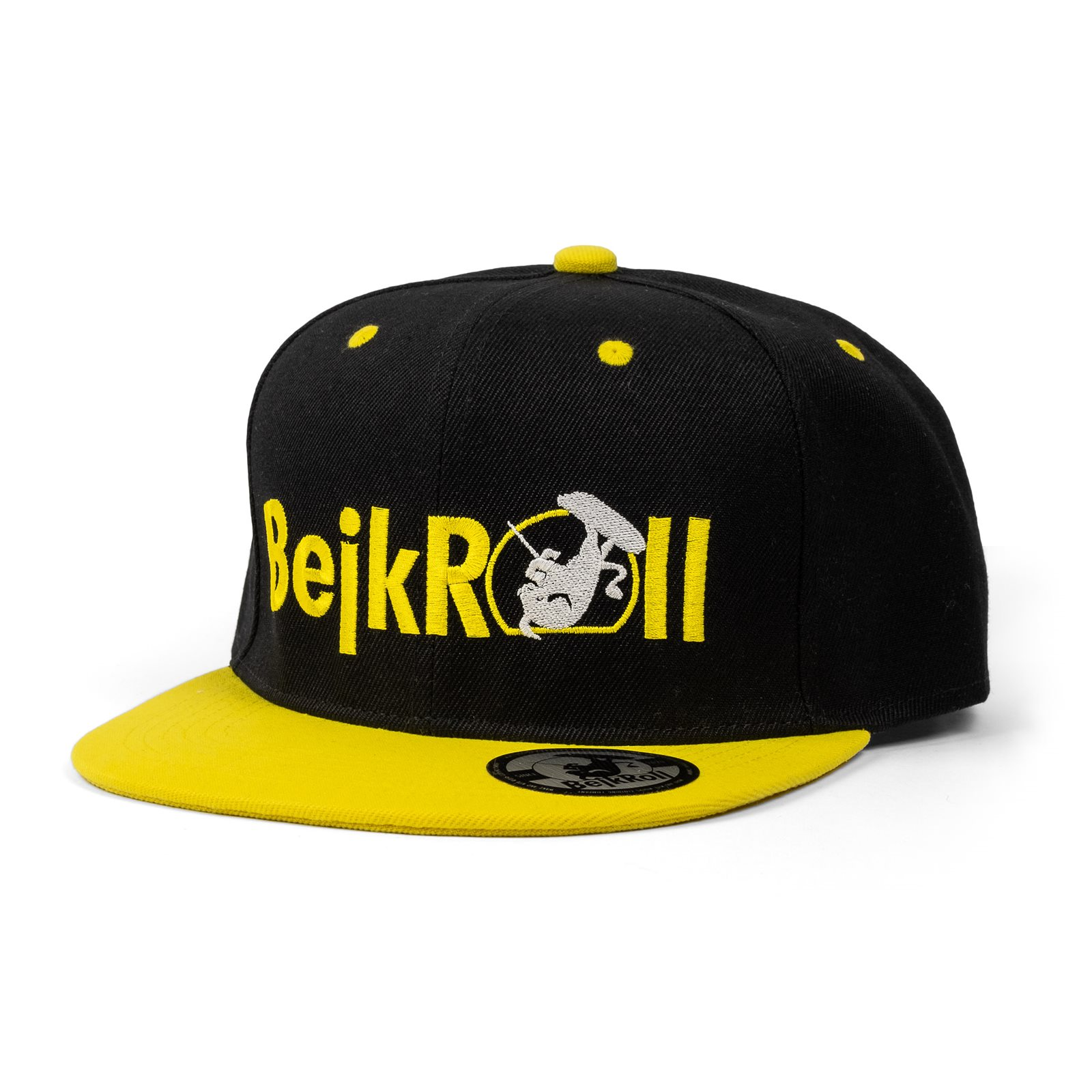 Kšiltovka BejkRoll SnapBack Yupoong rovné logo - Yellow