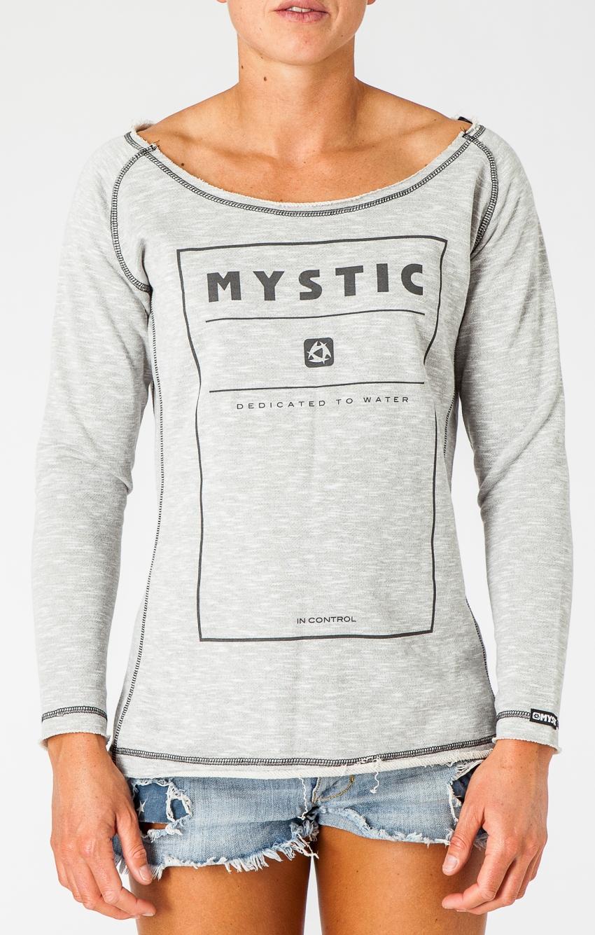 dámská mikina MYSTIC Decade Sweat Misty Grey Melee - XS