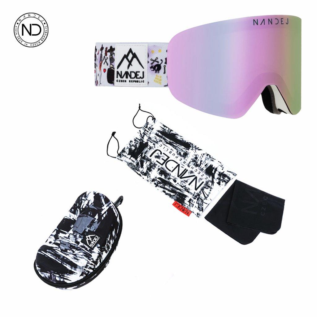 snow brýle 2020/21 Nandej Muerte - White