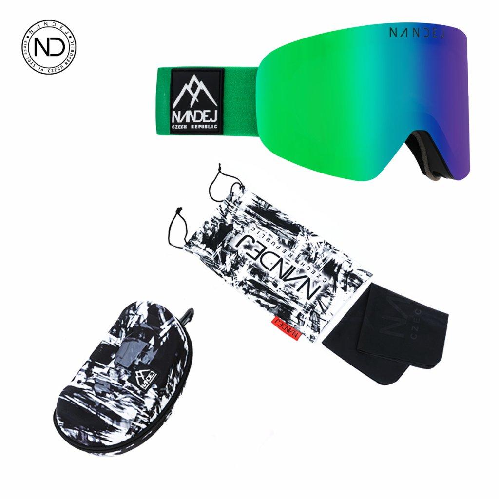 snow brýle 2020/21 Nandej Stripe - green