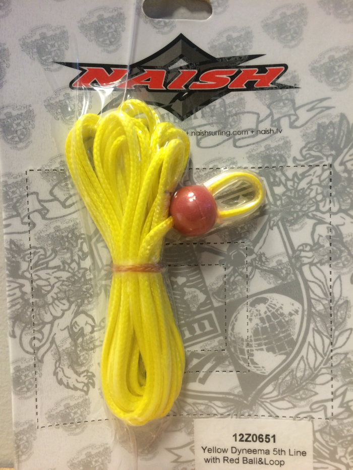 NAISH Yellow Dyneema 5th Line with Red Ball&Loop