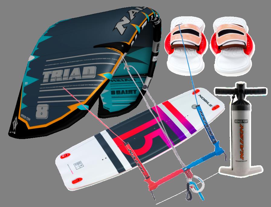 Set kite 19/20 Naish Triad 9m + kiteboard 2019 NOBILE T5 140cm
