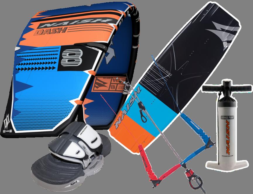 Set kite S25 Naish Dash 10m + kiteboard 2019 Naish Monarch 135cm