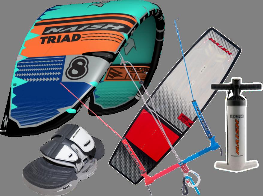 Set kite S25 Naish Triad 14m + kiteboard 2020 Naish Motion 142cm