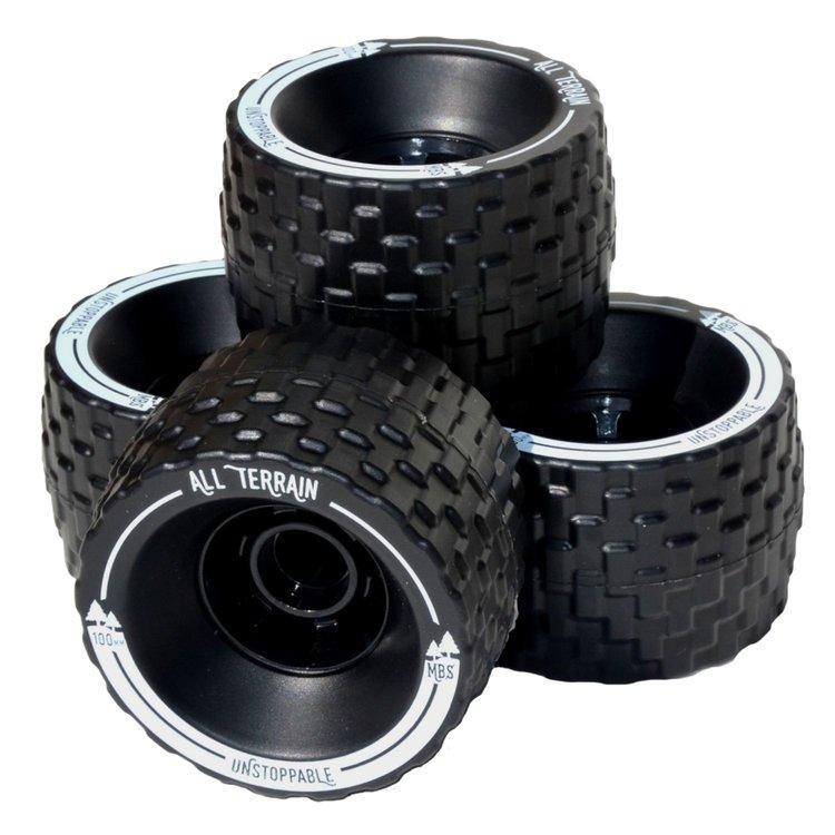 Longboard kolečka MBS All terrain 100mm - černá
