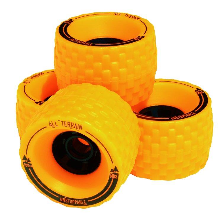 Longboard kolečka MBS All terrain 100mm - žlutá