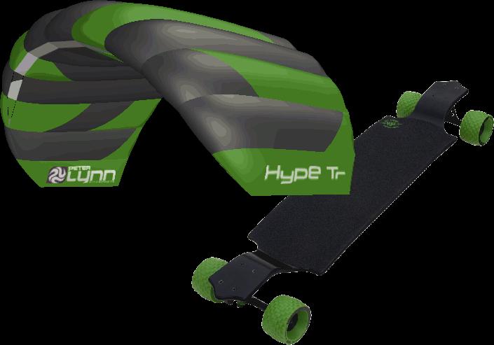 kite set PL Hype TR 1,6m + longboard MBS All Terrain