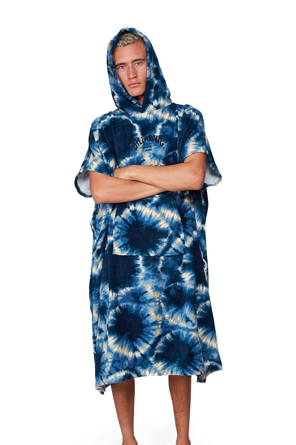 Poncho Billabong Hooded Towel - Blue Tie