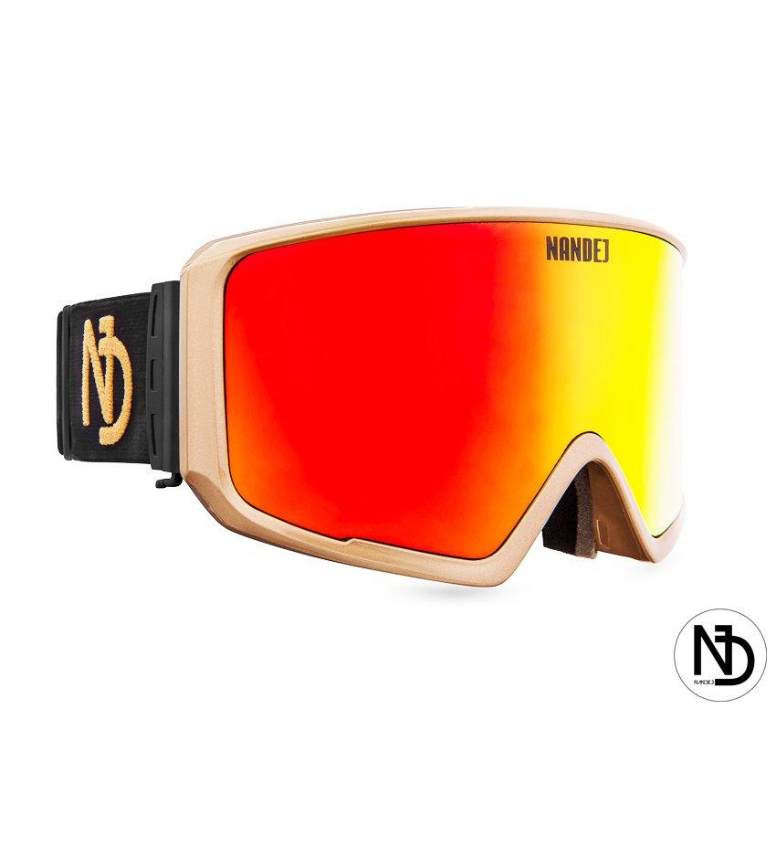 snow brýle Nandej Polarized - gold