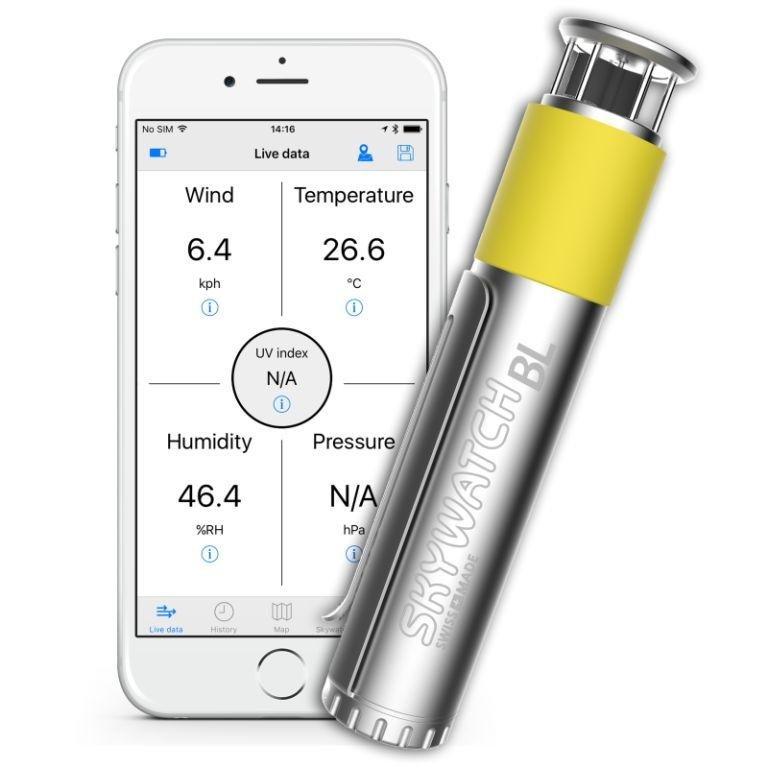 Skywatch windmeter BL300 pro smartphone