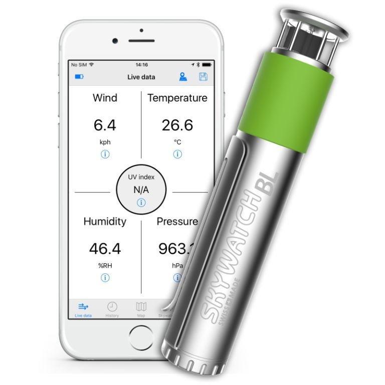 Skywatch windmeter BL400 pro smartphone