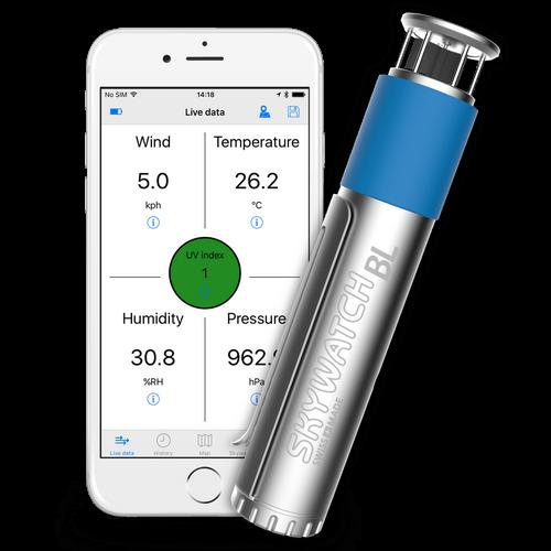 Skywatch windmeter BL500 pro smartphone