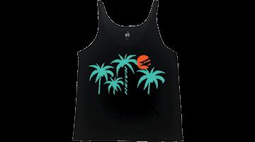 Dámské tílko NAISH Slouchy Palm Tank Black tričko  - L