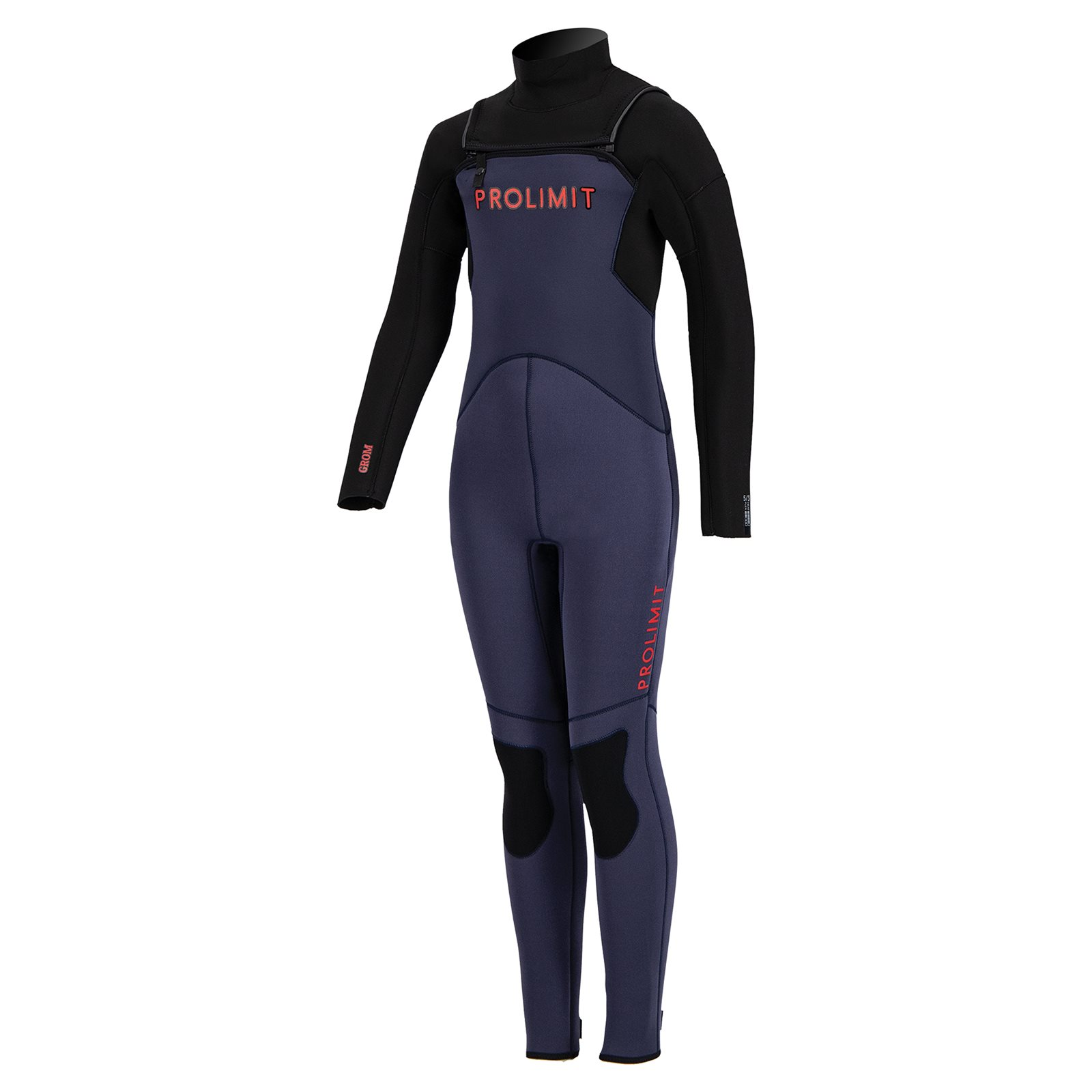 dětský neoprén '21 5/3 Prolimit Freezip Steamer blue / red - JM