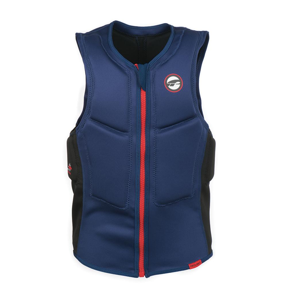 nárazová vesta Prolimit Slider Vest Half Padded Front Zip BL/RD - XL