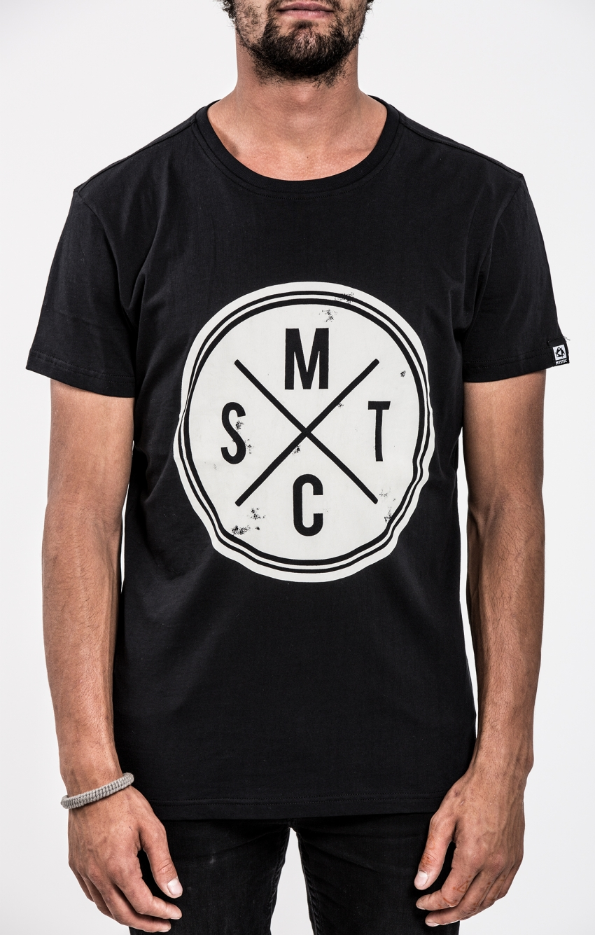 pánské tričko MYSTIC Vinyl Tee, Caviar - M