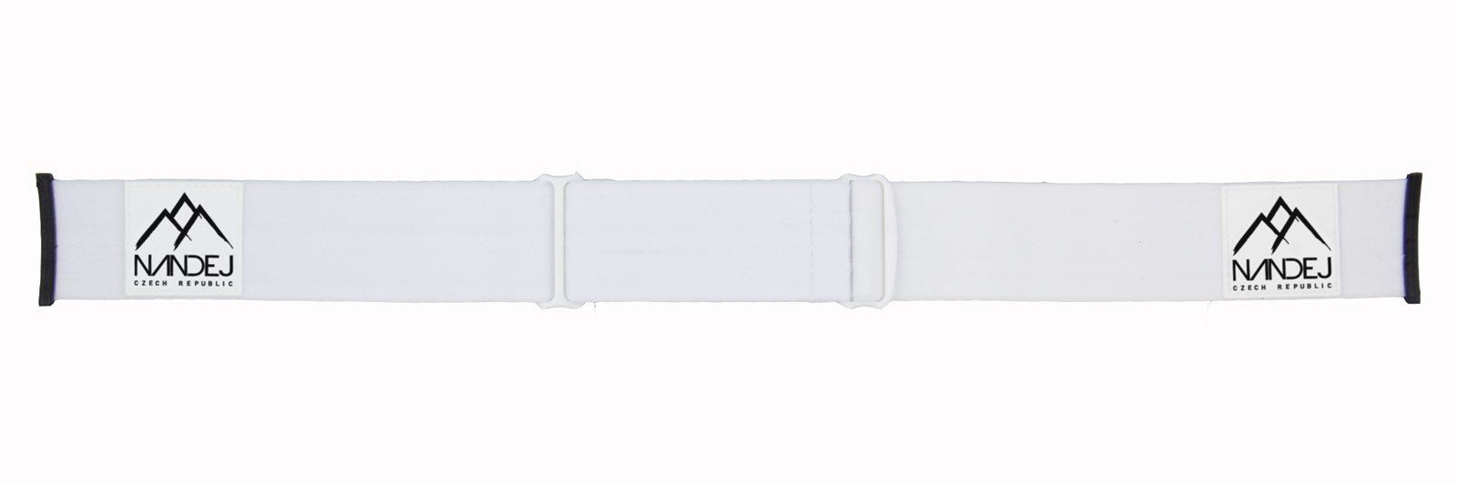 páska na snow brýle NANDEJ Camo - bílá