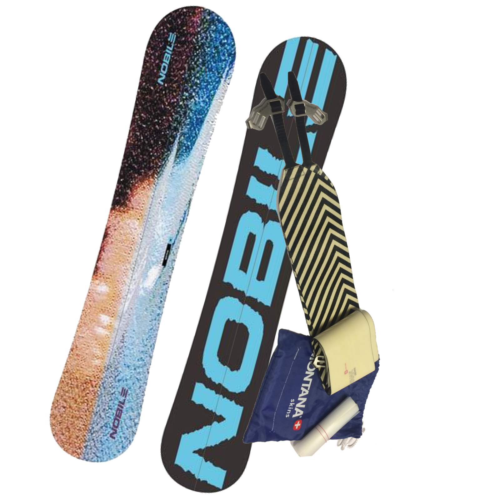 set split snowboard 2017 Nobile Sastrugi 159 cm+ stoupací pásy MONTANA Montamix