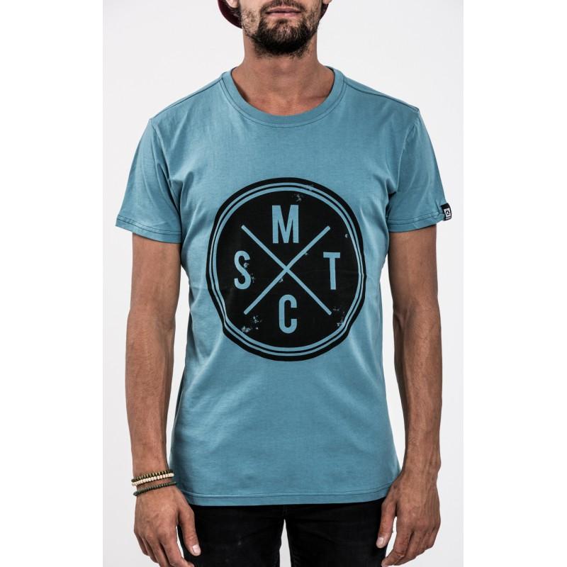 pánské tričko MYSTIC Vinyl Tee, Winter Blue - S