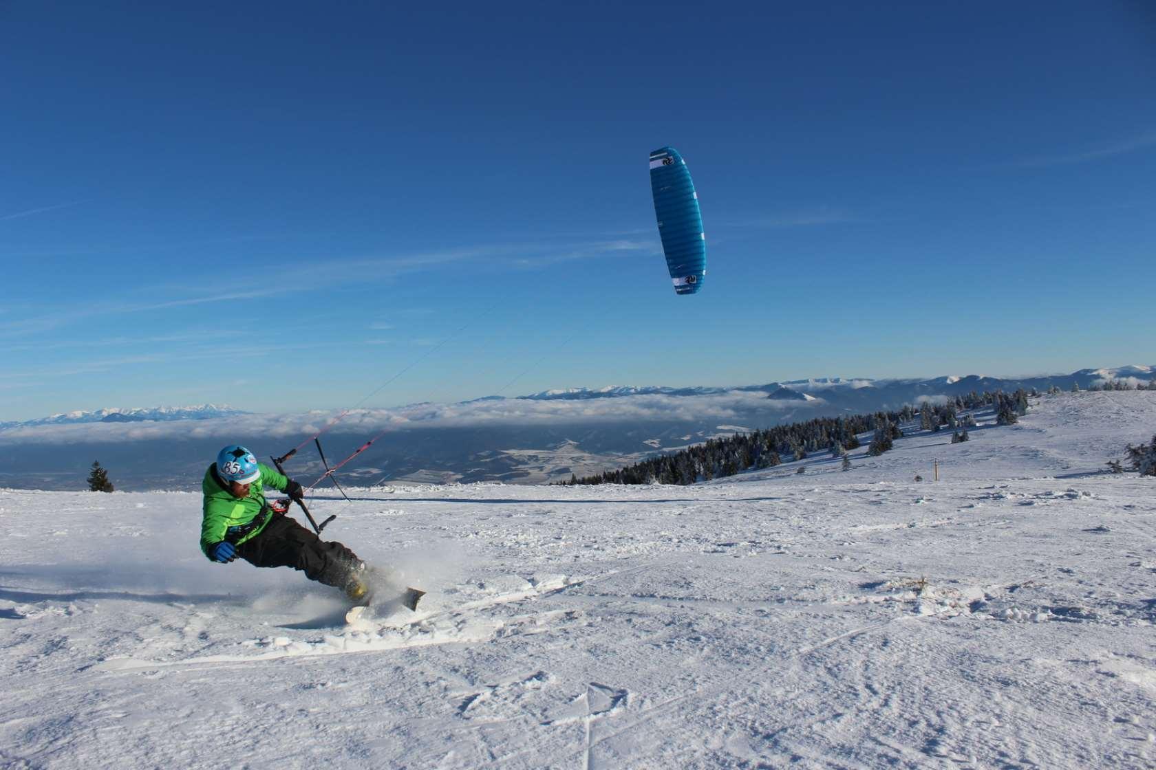 recenze Peter Lynn Nova - snowkiting freeride