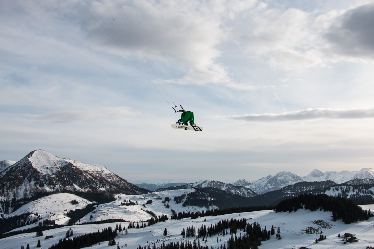 Snowkiting - hrátky v Rakouských Alpách