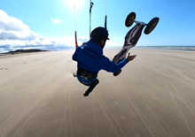 Kite Landboarding on da beach