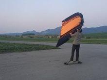 Wing-surfer NAISH - prvé pokusy
