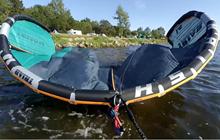Pokročilé dovednosti v kitingu - start nafukovačky na mělké vodě