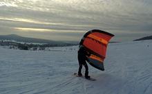 Wingsurfer na sněhu - první dojmy