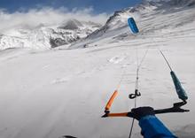 Snowkite 26. září 2020 - Lautaret Pass