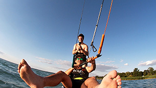 Kitesurfing trip Balaton 7/2020 - na paddleboardech