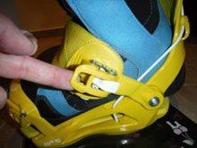 Nastavení snowboard vázání SP podle boty