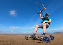 Low Wind Landboarding - video