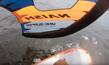 Wingsurfer + hydrofoil - jak funguje v reálu