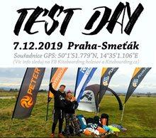 Kiteboarding Holešov test day Praha Smeťák 7. 12. 2019