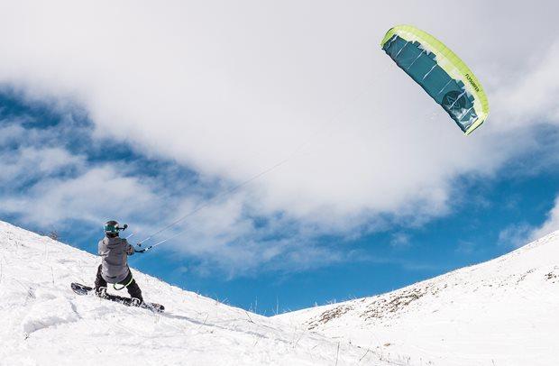 Jak velký single skin drak na snowkite - Flysurfer Peak4 freeride