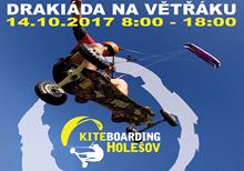 Drakiáda a kiting v Holešově 14.10.2017