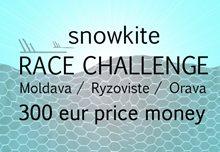 Kitetracker snowkite Challenge - kite soutěž o 300 eur