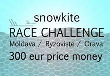 Kitetracker snowkite Challenge - 3 tracks by Kiteboarding.cz