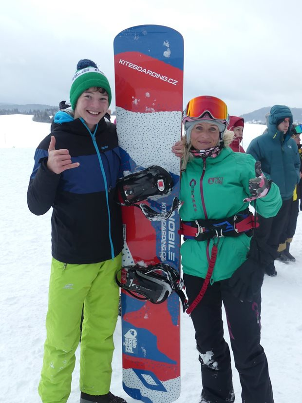 Orava Snowkite Challenge 2021 - race snowkite board