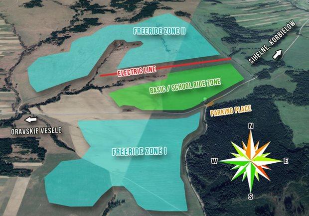 Orava Snowkite Challenge 2021 - mapa