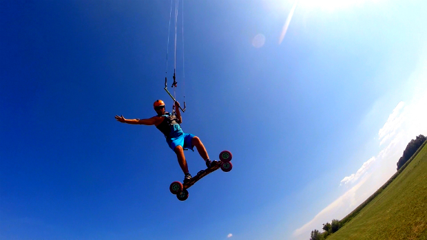 Landkiting flysurfer Speed5 - Big day