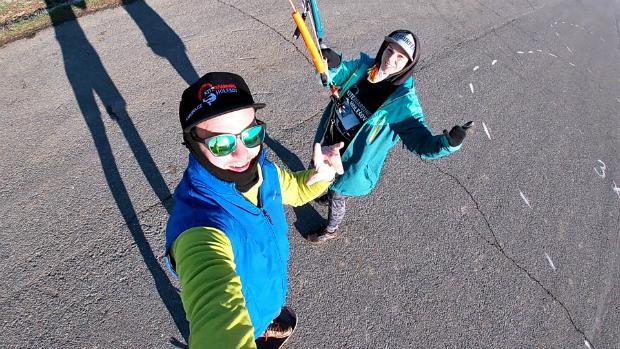 Flysurfer landkiting fun
