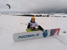 Snowkite závody OSC 2020 - očima Piškota
