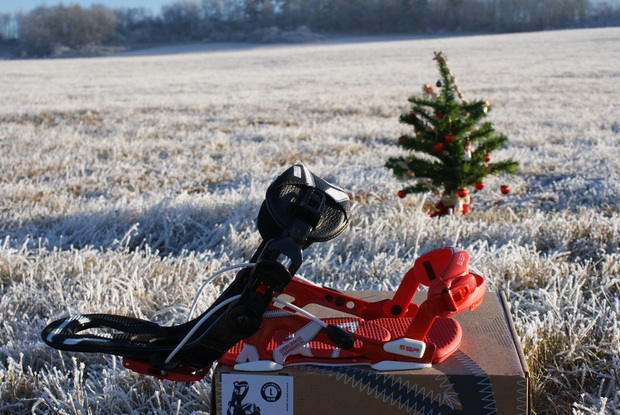 SP United snowkiting a snowboard vázání - sklopná flow patka do roviny