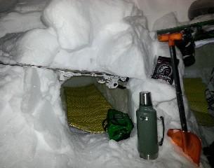 snowkite záhrab - hotovo s vybavením